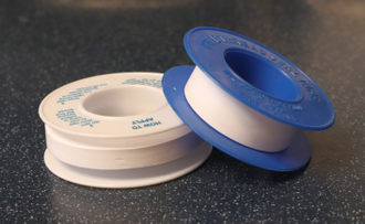 PTFE tape used for different sized fittings PTFE Rolls.png