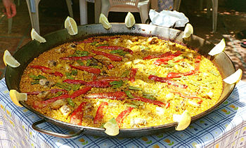 English: Paella from Altea, in the Land of Val...