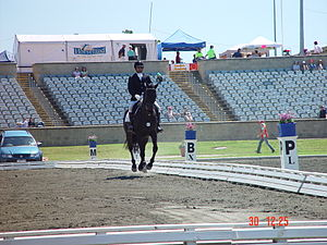 Sport in Pakistan - Usman Khan during the Dressage Phase at Asia Pacific Championship in Sydney.