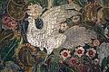 Palazzo colonna, sala dei ricami all'indiana, parati in seta di manifattura iberica (attr. a diego casale), 1650-75 ca. 03 uccello.JPG
