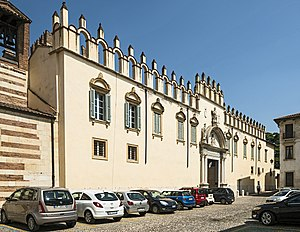 Roman Catholic Diocese of Verona - The facade of Palazzo del Vescovado