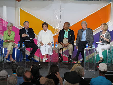 A gathering of five secretaries in June 2015 Panel for United States Secretaries of Health and Human Services at Spotlight Health Aspen Ideas Festival 2015.JPG