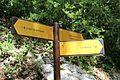 Panneau direction GR4 près Mescla Grand Canyon Verdon Palud Verdon 1.jpg