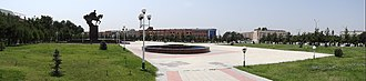 Andijan - Image: Panorama of Navoi Square (Formerly Bobur Square) Where 2005 Massacre Took Place Andijon Uzbekistan 02 (7543304374)