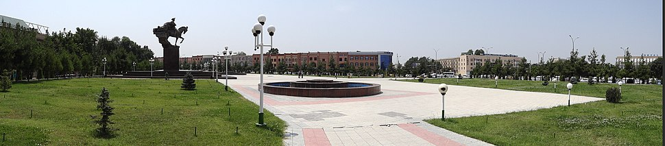 Panorama of Navoi Square where the 2005 massacre took place