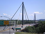 Papineau-Leblanc Bridge is a cable-stayed bridge.