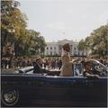 Parade, Union Station to Blair House, honoring Emperor of Ethiopia. President Kennedy, Emperor Haile Selassie, Chief... - NARA - 194270.tif