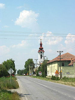 Parage, The main street and the Orthodox Church.jpg