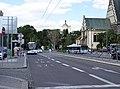 Pardubice, náměstí Republiky, od třídy Míru k zámku, trolejbusy.jpg