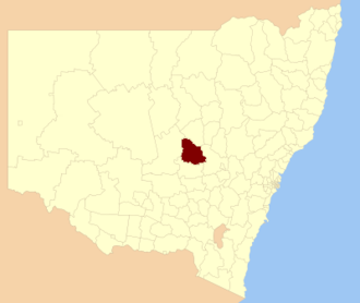 Parkes Shire - Location in New South Wales