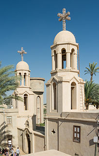 Paromeos Monastery building in Egypt