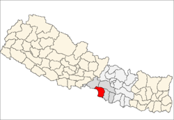 map of Parsa, Nepal