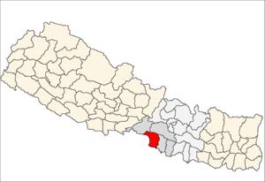 Parsa District - Location of Parsa