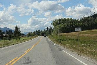 Parson, British Columbia - Entering Parson on British Columbia Highway 95