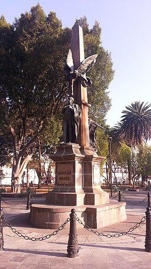 Nicolás Bravo - Monument to Bravo Rueda in Puebla de Zaragoza, Puebla.