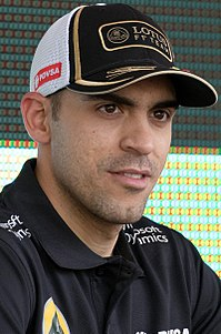 Maldonado under Malaysias Grand Prix 2015.