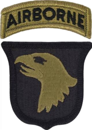 Patch of the United States Army 101st Airborne Division (Scorpion W2).png