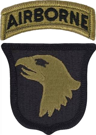 Patch of the United States Army 101st Airborne Division (Scorpion W2)