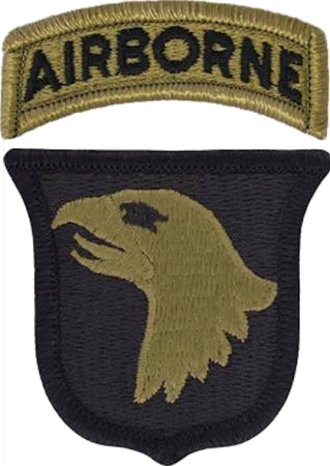 101st Airborne Division - The shoulder sleeve insignia of the 101st Airborne Division.