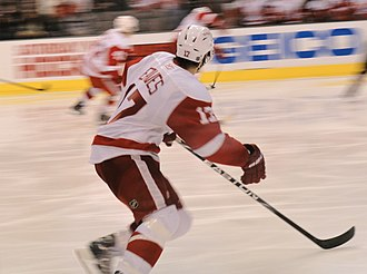 Patrick Eaves - Eaves on his way to his first career hat-trick in a game vs. the Dallas Stars in December 2010.