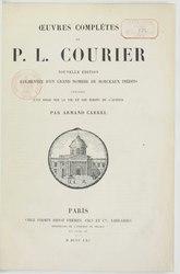 Paul Louis Courier: Oeuvres complètes