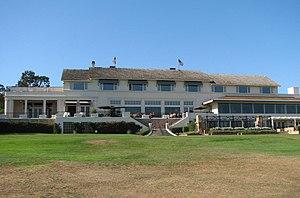 Pebble Beach Golf Links clubhouse, California,...