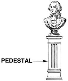 Pedestal Wiktionary