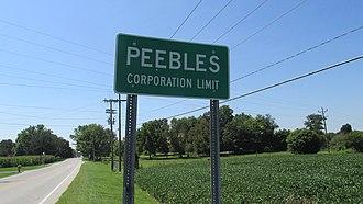 Peebles, Ohio - Image: Peebles OH1