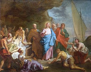 Christ healing the sick on the shore of the Sea of Galilee