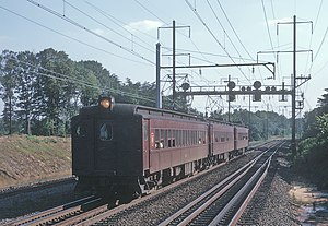 MARC Train - A Penn Central train near the Beltway in 1970, running on what is now the Penn Line