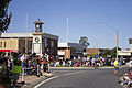 People lining up along Pine Ave and the cenotaph ahead of the SunRice Festival parade (1).jpg