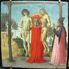 St. Jerome Supporting Two Hanged Young People