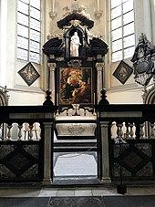 Rubenskapelle mit Grabstein (in der Mitte am Boden), Jakobskirche, Antwerpen (Quelle: Wikimedia)