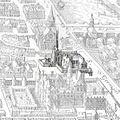 Petit-Bourbon on 1615 map of Paris by Mérian - Gallica 2010 (highlighted).jpg