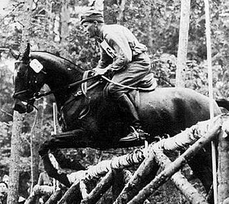 1924 in Sweden - Petrus Kastenman, Olympic champion in equestrian (eventing).