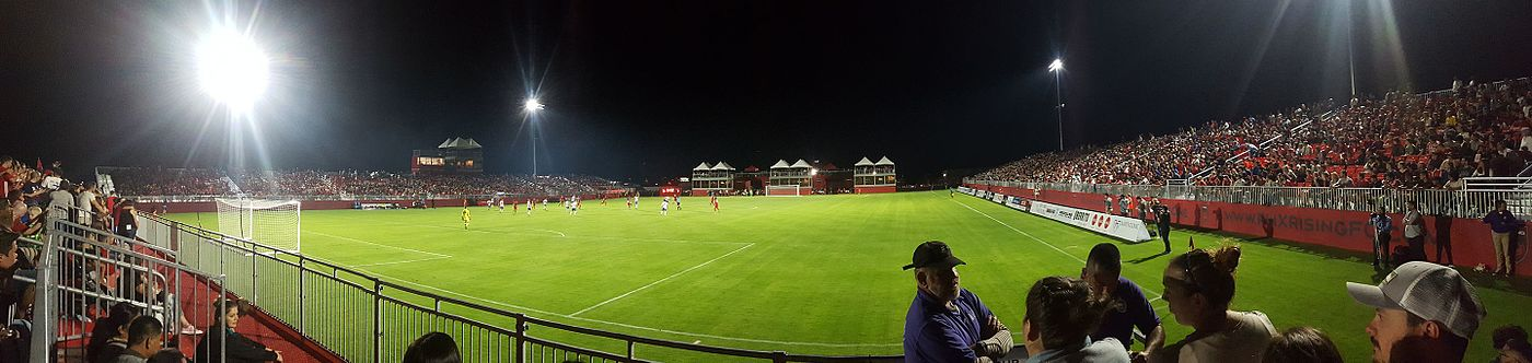 The inaugural match for the Phoenix Rising FC Soccer Complex on March 25, 2017, Toronto FC II vs. Phoenix Rising FC. Phoenix Rising Sports Complex 2017.03.25.jpg