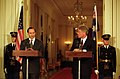 Photograph of President William J. Clinton and Australian Prime Minister Paul Keating Participating in Press Availability in the East Room.jpg