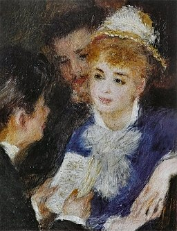 painting by Pierre-Auguste Renoir - La Lecture du rôle