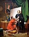 Pietro Aretino in the studio of Tintoretto, 1822, by Pierre Nolasque Bergeret. Nationalmuseum, Stockholm, Sweden.jpg