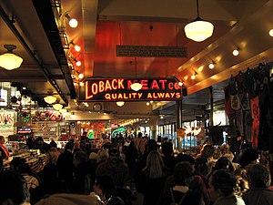 Inside Pike Place Market, Seattle, Washington.
