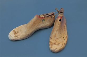 Last - A pair of wooden lasts.