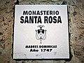 Placa informativa del monestir de Santa Rosa d'Arequipa.jpg