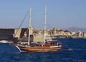 Medieval city Rhodes on Rhodes Island