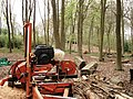 Plank sawing equipment in Bottom Wood - geograph.org.uk - 1141988.jpg