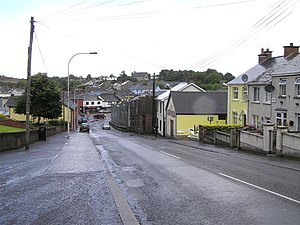 1997 Coalisland attack - Platers Hill in Coalisland (2009), looking toward the town center and former RUC/Army base (middle)