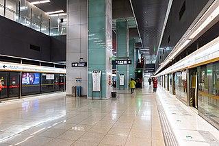Beiyunhe Xi (W) station Beijing Subway station