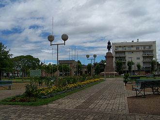Salto, Uruguay - Monument to José Gervasio Artigas, by Edmundo Prati, at Plaza Artigas in downtown Salto.