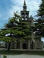 Ploulec'h - Église Saint-Dogmaël, façade et clocher.JPG