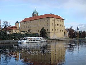 Poděbrady Castle - View from the river