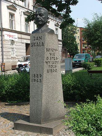 Jan Skala - Bust of Jan Skala in Namysłów